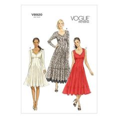 Vogue V8920 Misses' Petite Dress | Spotlight Australia