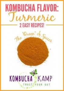 "Turmeric is the ""Queen of Spices"" and will add color and warmth to your Kombucha! Try these recipes today!"