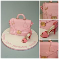 Mulberry bag and shoe cake