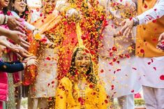 Looking to get a Haldi Ceremony Photoshoot? Must Try Haldi Ceremony quirky & fun ideas to be capture with your loved one. Pre Wedding Photoshoot, Wedding Poses, Wedding Shoot, Photoshoot Ideas, Wedding Ideas, Trendy Wedding, Wedding Dresses, Pretty In Pink, Raw Photography
