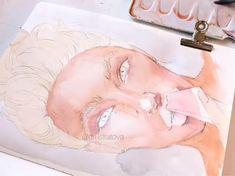 Art by on ig - Art - Art Sketches Watercolor Portrait Tutorial, Watercolor Art Face, Watercolour Tutorials, Watercolor Portraits, Watercolor Paintings, Pencil Art Drawings, Art Sketches, Indie Drawings, Art Sketchbook