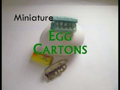 Polymer Clay/Paper Dollhouse Miniature Egg Cartons - YouTube