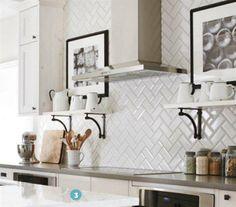 Ice White Beveled Subway Tile   US Ceramics 3x6 Subway Tiles