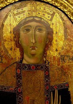 Sainte Agathe. Tableau processionnel. Jacopo di Marcovaldo. XIIIe siècle.