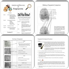 Printable forensic science unit: fingerprinting. https://www.teacherspayteachers.com/Product/Forensic-Science-Fingerprinting-Unit-982838