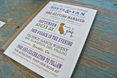 Wedding Invitation : Rustic and Vintage Winery Inspired.  via Etsy.