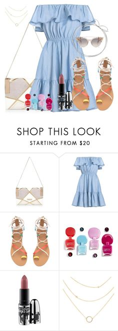 """""""blue cute dress :* :*"""" by naomy-nona ❤ liked on Polyvore featuring River Island and MAC Cosmetics"""