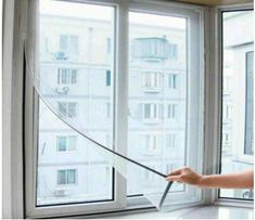 Home Insect Mosquito Self-adhesive Window Mesh Door Curtain - White Types Of Curtains, Net Curtains, Mosquito Curtains, Mosquito Net, Curtains For Sale, Door Curtains, White Curtains, Anti Mosquito, Curtain Sale