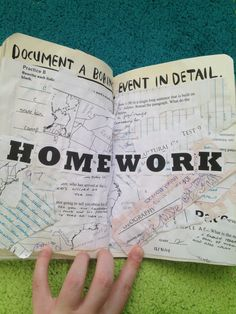 wreck this journal; boring event; homework; wtj