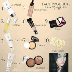 Order of application for skin care and face makeup with Younique Click here to see all cosmetics: www.youniqueproducts.com/heatherberg