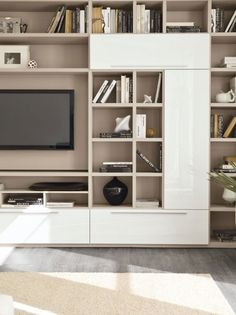 Living Tv, Living Room Wall Units, Living Room Tv Unit Designs, Living Room Seating, Living Room With Fireplace, Home Living Room, Interior Design Living Room, Home Library Design, Home Office Design