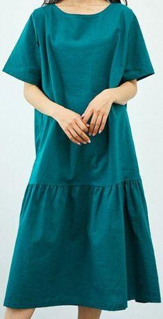 (무료패턴) 루즈핏 원피스 제도법 : 네이버 블로그 Stylish Dresses For Girls, Simple Dresses, Girls Dresses, Dress Design Patterns, Sewing Patterns, Latest African Fashion Dresses, Plus Size Maxi, Costume Patterns, Mothers Dresses