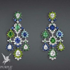 "Cool diamond tones is what you can expect from this ""Exquise Émeraudes"" earrings in 18K white gold diamonds sapphires emeralds demantoid garnets and Paraiba tourmalines by @dior. More muted in colors but never in style! #purplebyanki #diamonds #luxury #loveit #jewelry #jewelrygram #jewelrydesigner #love #jewelrydesign #finejewelry #luxurylifestyle #instagood #follow #instadaily #lovely #me #beautiful #loveofmylife #dubai #dubaifashion #dubailife #mydubai #earrings"