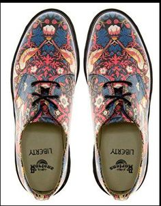 Doc Martens, decorated with William Morris pattern.  Mens', but I would wear them.