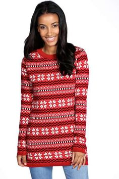 Womens Baby Deer Print Knitted Merry Christmas Jumper Men Midi Tunic Party Dress