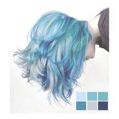 Mermaid Hair Color for Short Hair - Hair Style Dye My Hair, New Hair, Curls Haircut, Short Haircut, Coloured Hair, Colored Short Hair, Short Blue Hair, Short Colorful Hair, Curly Short