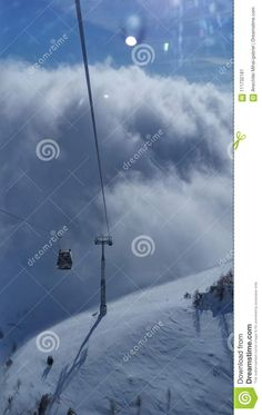 Photo about skiing clouds mountain heaven sky winter snow. Image of winter, snow, skiing - 111732181