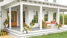 A beautiful porch always holds eyes on people. And the farmhouse style porch seems to be very enjoyable right now. It looks so cozy and nice. So, if you are thinking what your porch could look like this year, here… Continue Reading → Porch Kits, Porch Ideas, Patio Ideas, Terrace Ideas, Landscaping Ideas, Garden Ideas, Veranda Design, Farmhouse Front Porches, Rustic Farmhouse