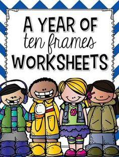 A Year of Ten Frames Worksheets #printables #kindergarten