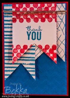 Nautical Thank You Card which shows that Painted Petals from Stampin' Up! is not just for girly cards - see lots of ideas on this blog