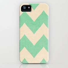 Mint and Cream Chevron iPhone Case