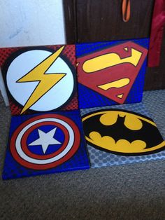 super hero boys's room | Canvases I made for Super hero room for the boys. ... | Spiderman room
