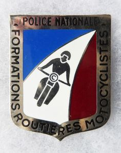 INSIGNE POLICE - OBSOLETE - POLICE NATIONALE - Formations Routières Motocycliste