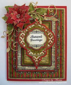 Designs by Marisa: JustRite Papercraft August Release - Season's Greetings Card