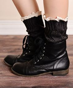 Look at this #zulilyfind! Dark Gray Boot Cuffs / Arm Warmers #zulilyfinds