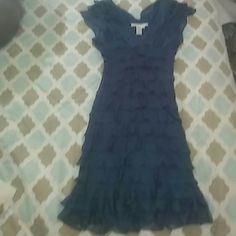 Selling this Charming and feminine ruffled cocktail dress in my Poshmark closet! My username is: daphnesduds. #shopmycloset #poshmark #fashion #shopping #style #forsale #Max Studio #Dresses & Skirts