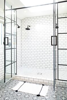 remodeling bathroom ideas white shower stall with double doors