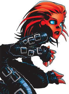 Penance I - Marvel Comics - Generation X character - St Croix. From http://www.writeups.org/fiche.php?id=1635 . A much cleaner version of the oooold illustration.