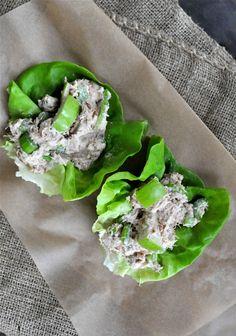 Paleo Creamy Tuna Salad | Fed and Fit - instead of cashew mayo, may have to make my own paleo mayo
