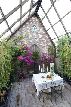 Love this idea with a heater in the greenhouse. Beautiful <3