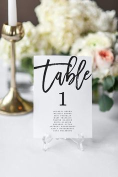 Etsy Table Number
