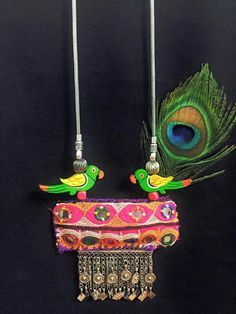 Textile Jewelry, Fabric Jewelry, Tribal Jewelry, Fabric Necklace, Diy Necklace, Handmade Necklaces, Handmade Jewelry, Terracotta Jewellery, Textiles