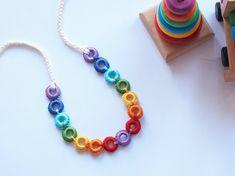 Nursing rainbow crochet rings  Baby Teething and by TOP1234, $18.00