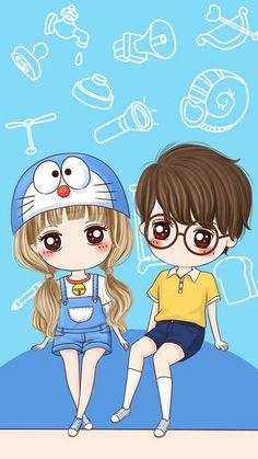 59 best wallpaper anime cute couple images in 2018 Cartoon Girl Images, Doremon Cartoon, Love Is Cartoon, Cute Love Cartoons, Cute Chibi Couple, Cute Couple Cartoon, Cute Couple Art, Doraemon Wallpapers, Cute Cartoon Wallpapers