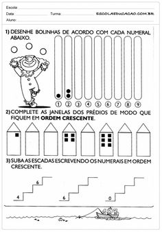 Atividades de Matemática 2º ano - Quantidade Diagram, Words, Letter E Activities, Learning Activities, Kids Activity Ideas, Autism, Horse
