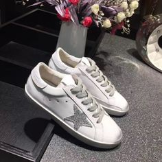 GGDB Homme - Vente 2017 Golden Goose GGDB SuperStar Blanc Argent Homme Sneakers
