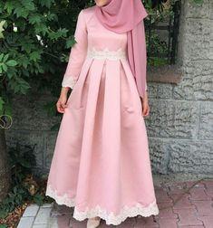 Pink dress with salem hijab