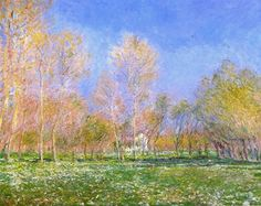 Springtime in Giverny 1890 Claude Monet