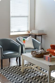 white coffee table found at HomeGoods featured on Vintage Revivals Blog.