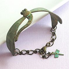 Hey, I found this really awesome Etsy listing at https://www.etsy.com/listing/61858338/verdigris-dragonfly-cuff-bracelet-brass