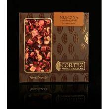 Czekolada Cortez z miodem, cynamonem i śliwką  #czekolada #cortez #chocolate #honey #cinnamon #plum #miod #cynamon