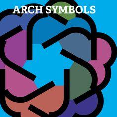 arch symbols for Illustrator vector shapes circular windmill design