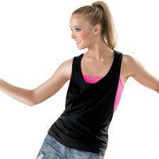 Open Sides Racerback Dance Tank; Balera