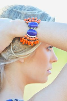 Beaded Soulmates Bracelet - Tangerine from Closet Candy Boutique