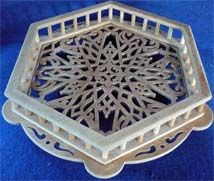 Moresque stand, scroll saw fretwork pattern