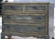 Rich Old World Patina on ASCP Painted Chest of Drawers — Shizzle Design
